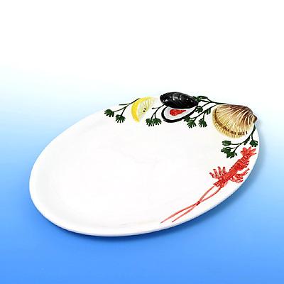 ovale platte mit verschiedenen meeresfr chten. Black Bedroom Furniture Sets. Home Design Ideas